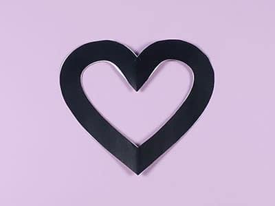 Herz Vorlage ausschneiden