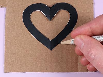 Herz Vorlage übertragen