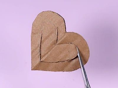 Herzinnenform ausschneiden