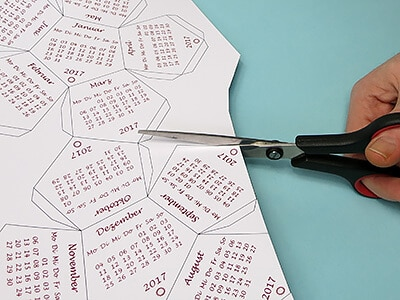 Kalender ausschneiden