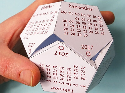 Dodekaeder Kalender