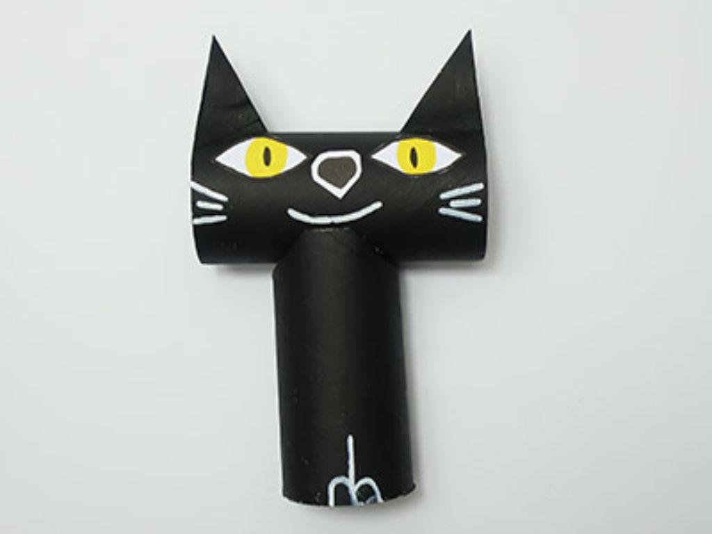 Katze basteln und bemalen