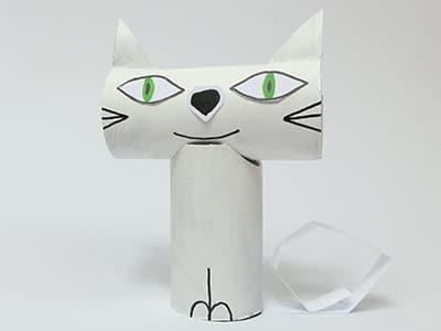 Weiße Katze basteln