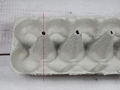 Eierkarton - Küken basteln Form ausschneiden