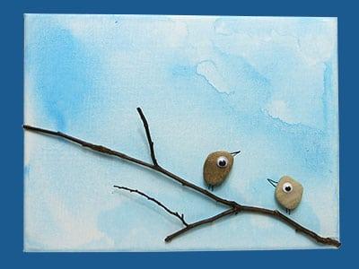 Steine und Vögel DIY