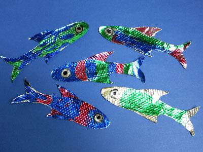 Bastelanleitung für Fische