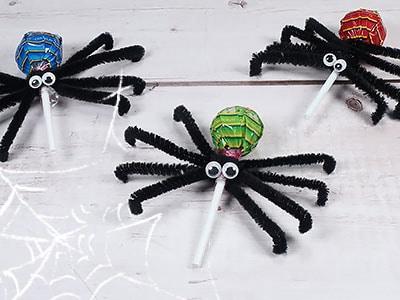 Halloween Spinne basteln
