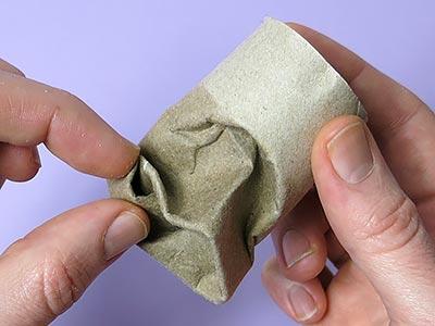 Maske basteln - Mund formen