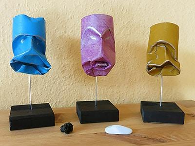 Masken als Skulptur