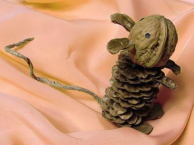 Maus - Herbst basteln