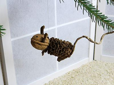 Maus für Weihnachten basteln