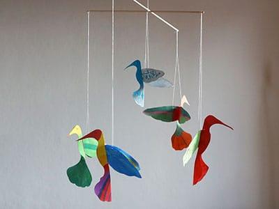 Vogel Mobile basteln