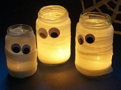 Mumien Lichter basteln