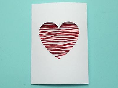 Muttertagsgeschenkkarte Herz Variante