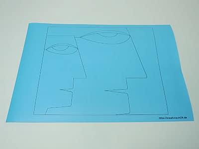 Papier Art Vorlage