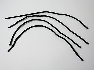 Schwarze Pfeifenreiniger - Spinnenbeine