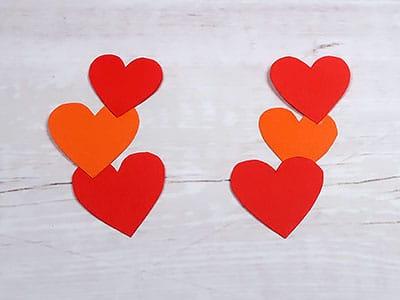 Herzen zusammenkleben