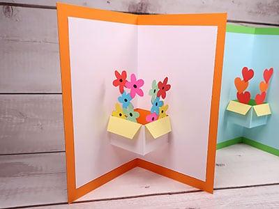 Pop Up Karte selber machen - Blumen