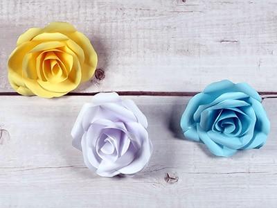 Einfache Rosen basteln