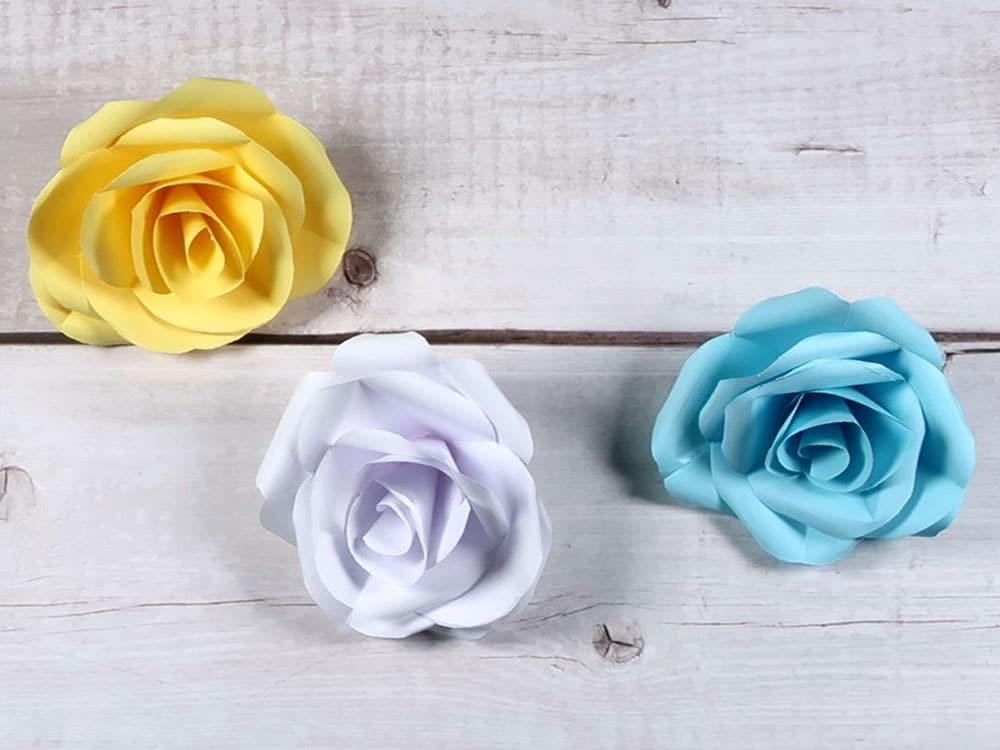 Einfach Rosen basteln