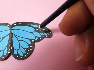 Schmetterling Punkte