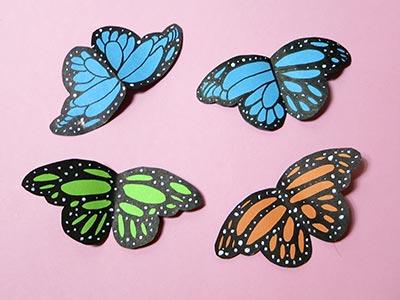 Schmetterlinge basteln