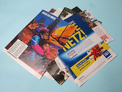 Bastelidee mit Magazinen