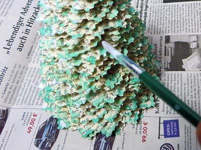 Tannenbaum Glitter Mod Podge