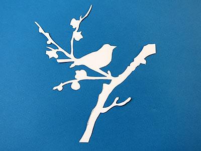 Vogel Silhouette ausschneiden