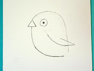 Vogel zeichnen für Kids