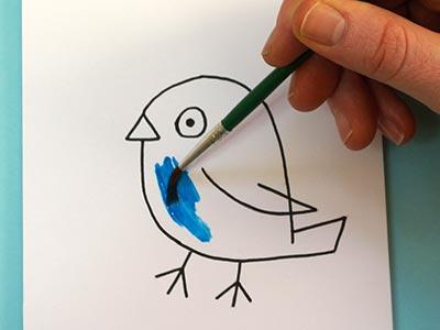 Vogel malen für Kinder