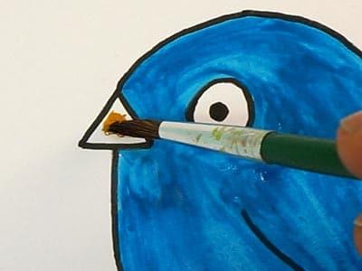 Lustigen Vogel malen