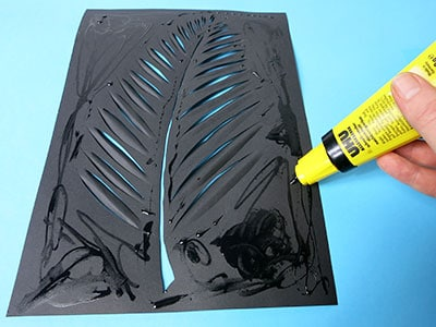 DIY Deko Wandbild Schritt 8