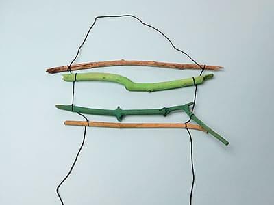Zweige anbinden