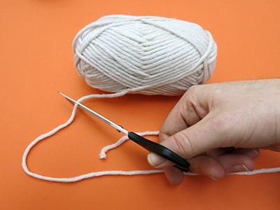 Wanddeko aus Wolle