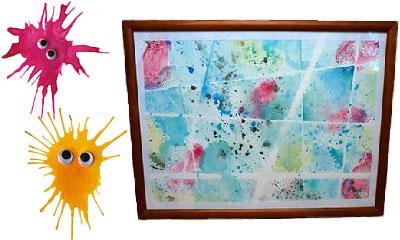 Wasserfarben malen - basteln