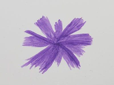 Blüte malen