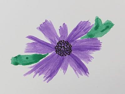 Blütenstempel malen