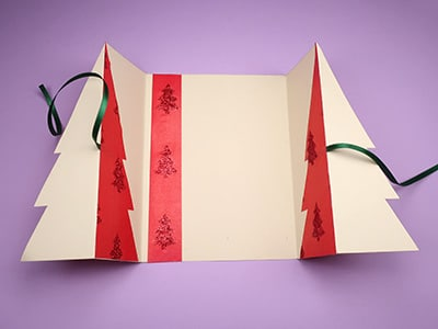 Innenansicht Weihnachtskarte