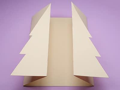 Gefaltete Weihnachskarte