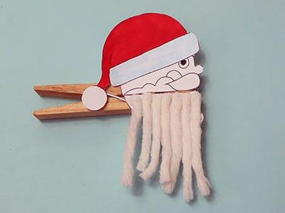 Weihnachtsmann Bart aus Wolle