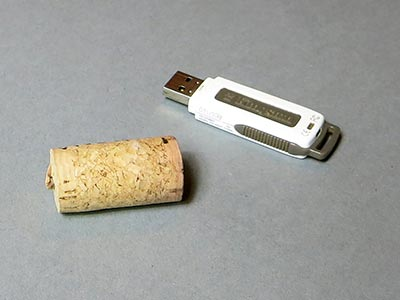 Weinkorken USB-Stick Material