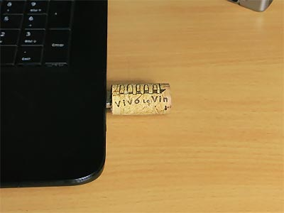 Weinkorken USB Stick basteln